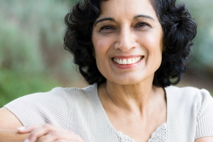 Smiling Middle-Age Woman